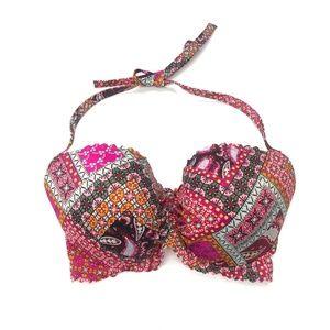Victoria's Secret Pink Paisley Bikini Top Sz 34DDD